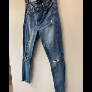 Great condition distressed Express jeans